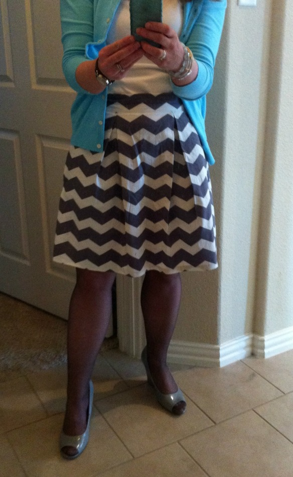 chevron skirt 1