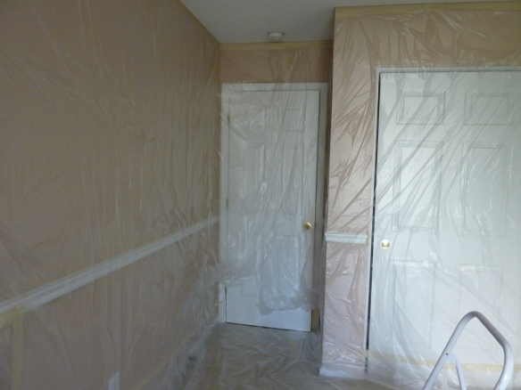 cover walls with plastic