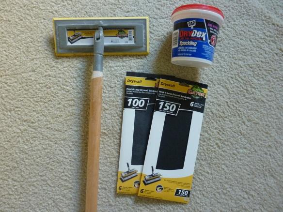 sanding supplies
