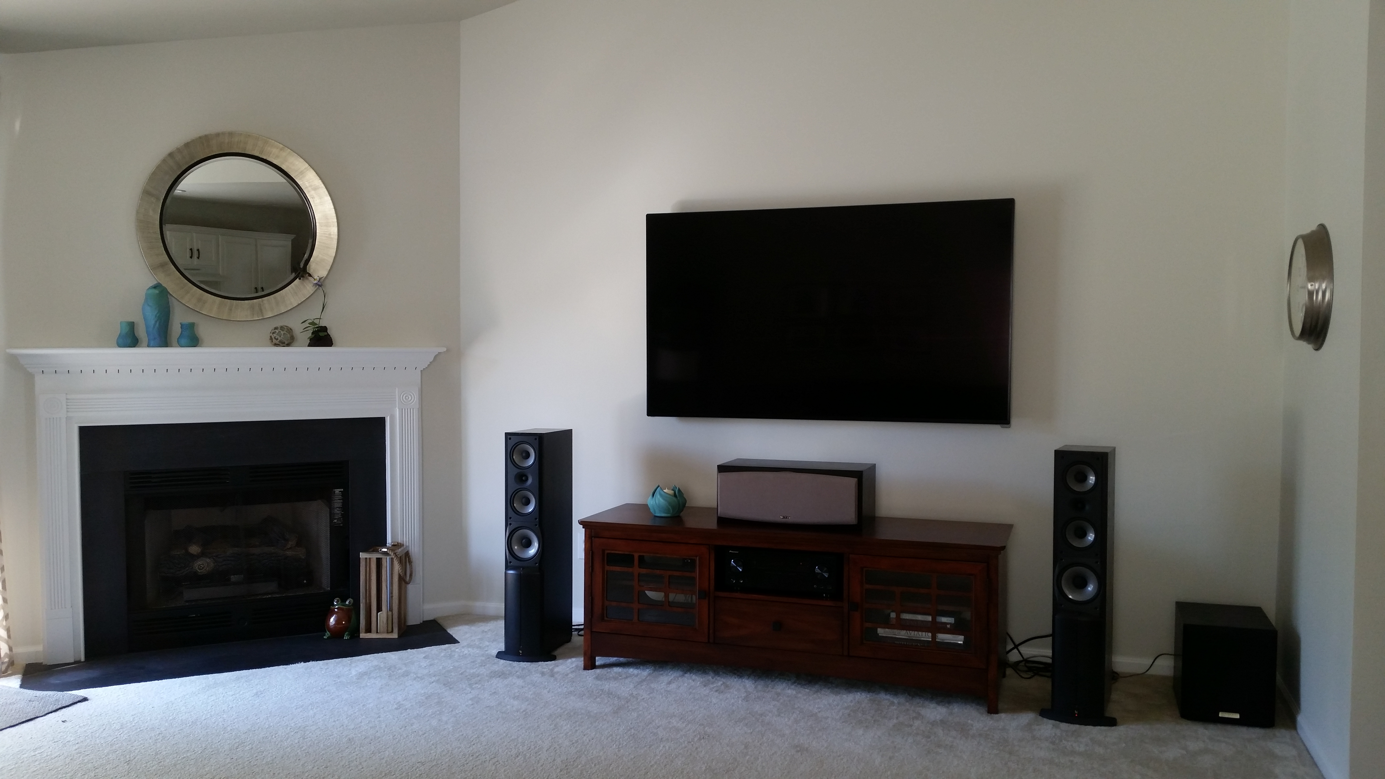 new media console in room